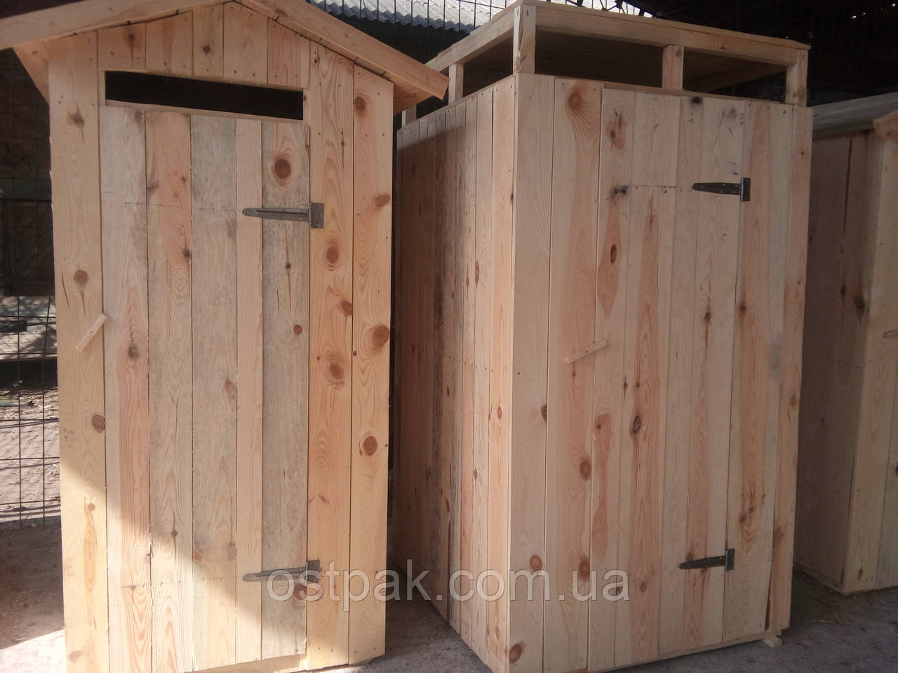 Душова кабіна дерев'яна, літній душ для дачі