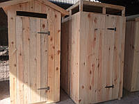 Душевая кабина деревянная, летний душ для дачи