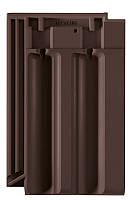 Керамическая черепица Creaton Рапидо темно-коричневая ангобированная