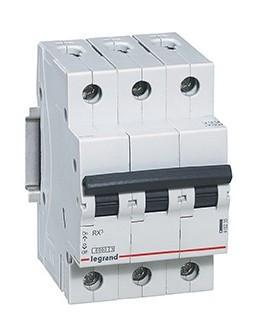 Автоматический выключатель RX3 3п 40А С, 4,5кА