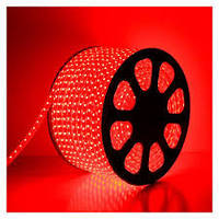 Светодиодная лента 220В SMD5050 60LED IP68 Красная