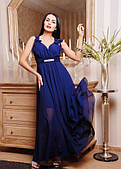 Гарне плаття в підлогу з струмує тканини