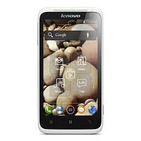 Обзор смартфона  LENOVO S720 белого цвета