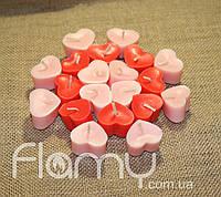 Свечи плавающие парафиновые, сердечки. Комплект 20 шт.