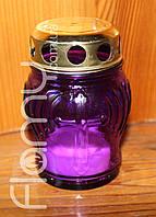 Лампадка 12-02, цветной стеклянный корпус, время горения 12 часов