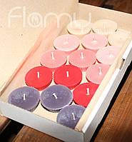 Плавающие свечи, парафиновые цветные, комплект 15 шт
