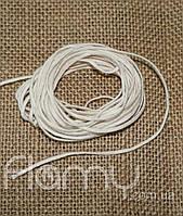 Фитиль плетеный косичка, хлопок, толщина 1 мм