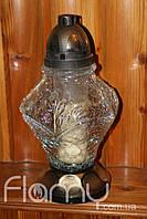 Лампадка 90-1, стеклянный прозрачный корпус Мороженое, горение 90 часов