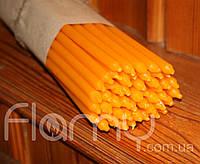 Свеча церковная желтая, длинная. Упаковка 50 шт