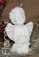 Ангел большой с цветком. Парафин. Высота 120 мм