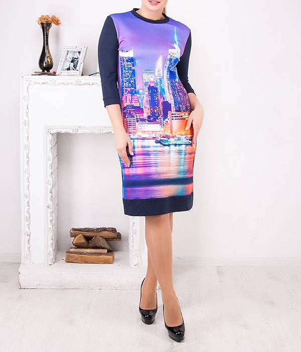 """Платье женское больших размеров """"Сити"""" от 50 до 62"""