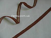 """Цветная тесьма """"шанель шубная"""" коричневая с белыми вкраплениями ,ширина 1.2см"""