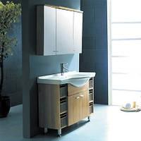 Комплект мебели для ванной CRW GSP04, бордовый
