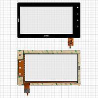 Touchscreen (сенсорный экран) для Explay Informer 706, 6 pin, черный, оригинал