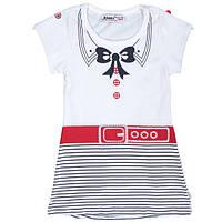 Летнее детское трикотажное платье