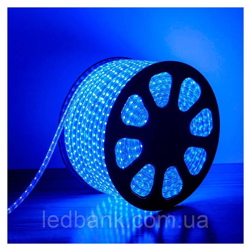 Светодиодная лента 220V SMD5050 60LED IP68 Синяя