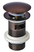 Донный клапан для раковины Welle, тёмная бронза
