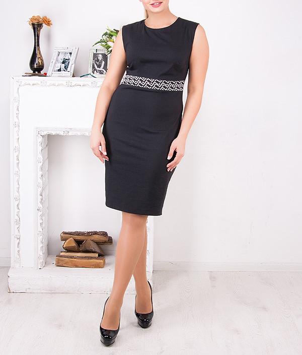 """Женское классическое платье-футляр больших размеров """"Ангела"""" от 48 до 62"""