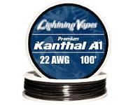Кантал (Kanthal A1, пр-во Швеция) 22 AWG Gauge, 0,64 мм, 4,3 Ом\метр