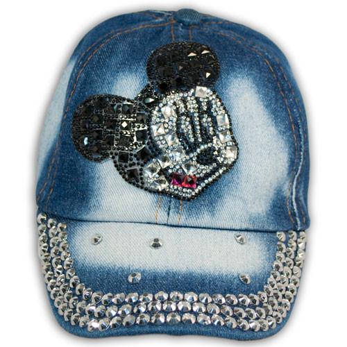 Кепка бейсболка джинсовая для девочек от Мир шапок