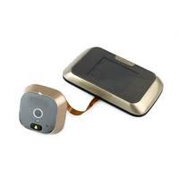 """Видеоглазок с монитором  Smart Peephole Viewer 2.8"""" micro SD металлический корпус"""