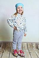 Куртка ветровка для девочки белая, рост 98-122см
