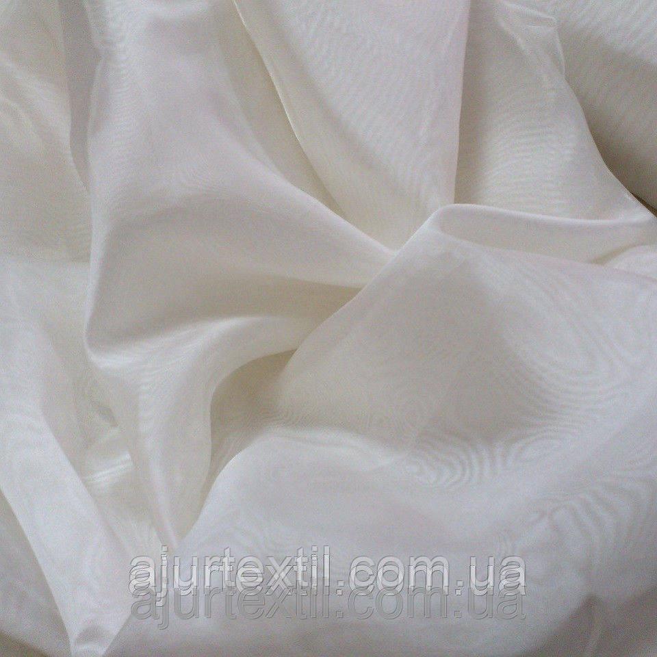 Тюль микровуаль молочная 01