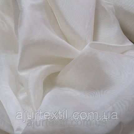 Тюль микровуаль молочная 01, фото 2