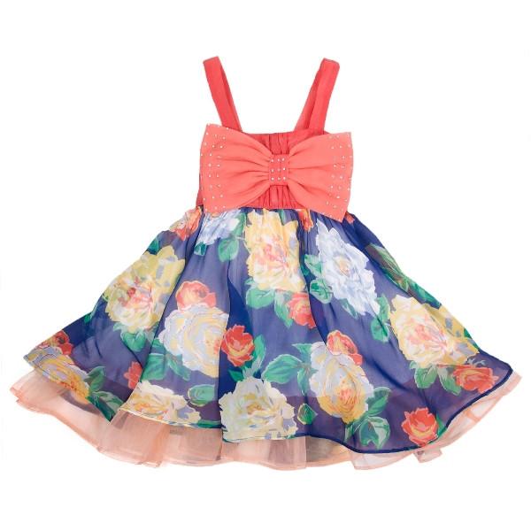 картинка летнее детское платье на бретельках