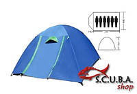 Палатка 6-и местная VERUS туристическая двухслойная размеры 2,2*2,5*1,5 м (SY-017)