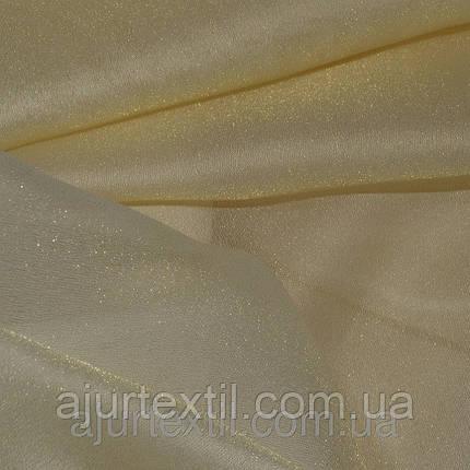 Тюль Мерцающая вуаль золото 01, фото 2