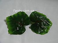 Искусственные парные листья винограда с красными прожилками(1-большой 10см*10см) ,на 1 розетке 2 листа