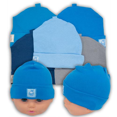Трикотажная шапочка для мальчиков с заворотом, производитель Украина