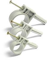 Обойма для труб и кабеля диам 20-22 с ударным шурупом, фото 1