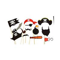 Пиратский набор фотобутафории для тематического праздника