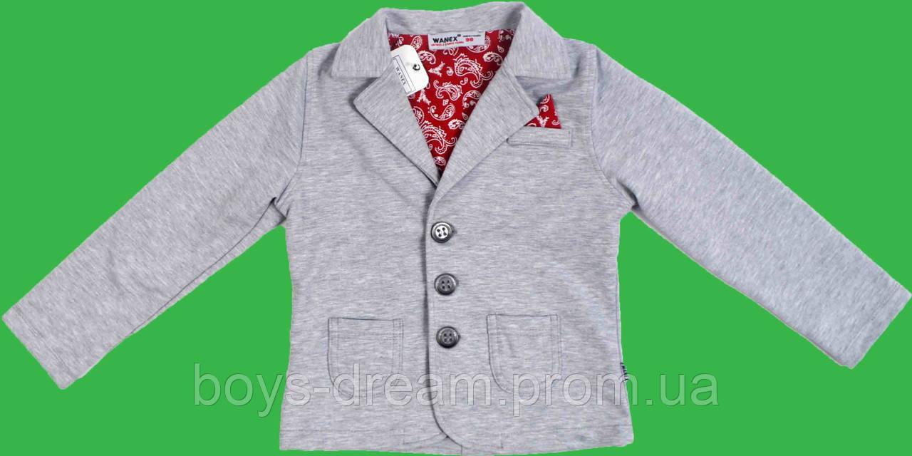 Пиджак для мальчика(98-104)(Турция) 98, Светло-серый