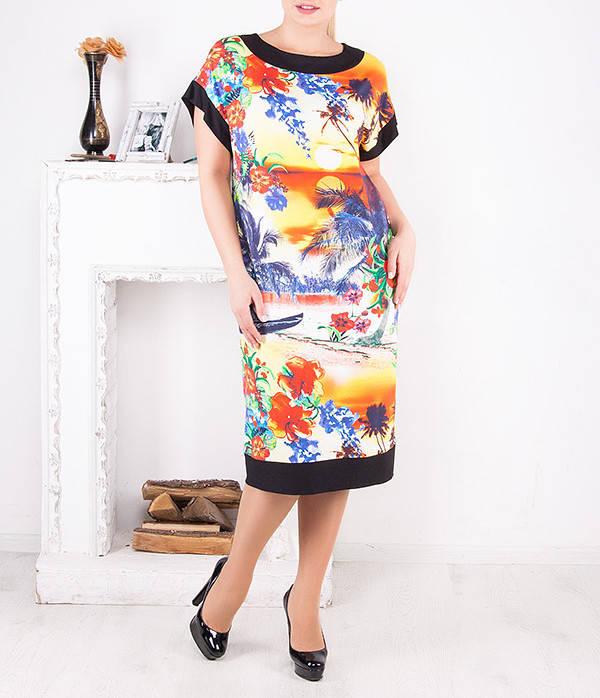 """Платье летнее больших размеров """"Пальма"""" от 50 до 64 и более"""