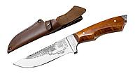 Нож охотничий ручной работы Робинзон с кожаным чехлом + эксклюзивные фото, тактический нож