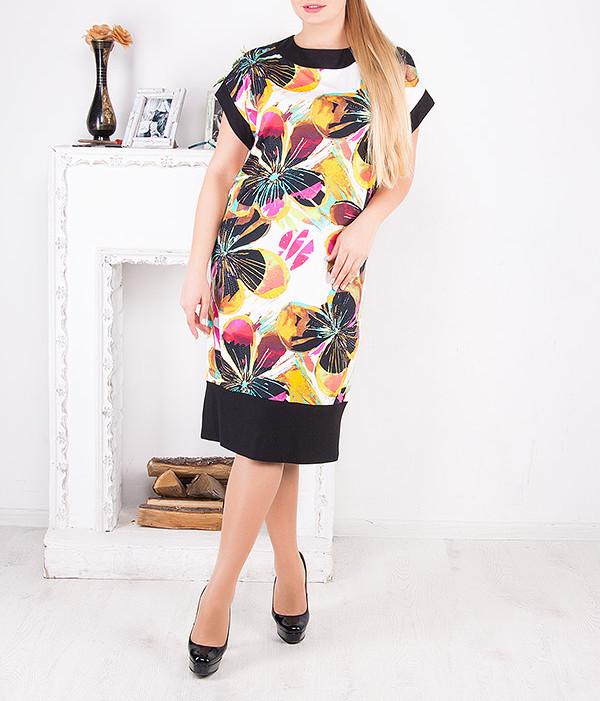 """Платье летнее больших размеров """"Цветы"""" от 50 до 64 и более"""