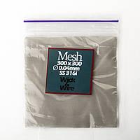 Сетка из нержавеющей стали 300 Mesh, 10х10 см