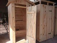 Туалет для дачи, дачный туалет из дерева, душевая кабина деревянная
