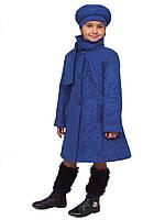 Пальто для девочки  кашемир  м-968 рост 116-140, фото 1