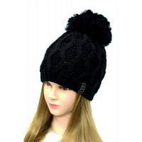 Вязанная зимняя шапка на девочку