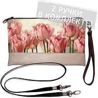 Клатч Розовые тюльпаны