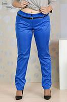 Женские голубые брюки большого размера (размеры 42-74)
