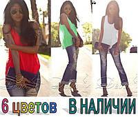 "Блуза - майка ""Хулиганка"" креп-шифон РАСПРОДАЖА, фото 1"