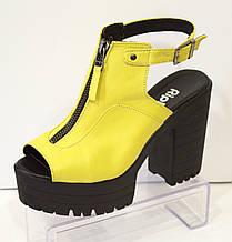 Босоножки женские желтые Ripka 401