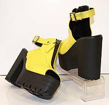 Босоножки женские желтые Ripka 401, фото 3