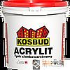 ТМ KOSBUD ACRYLIT - фасадная акриловая штукатурка (ТМ КОСБУД АКРИЛИТ ), 25 кг.