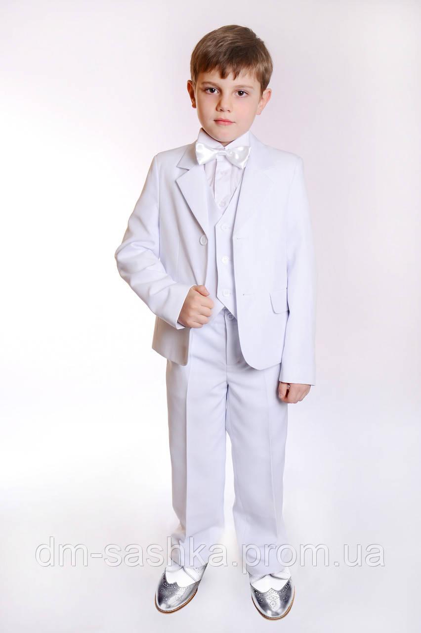Костюм классический белый для мальчика, цена 699 грн ... - photo#48